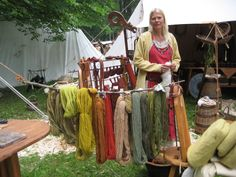 """goldisblood: """" The Colorful Vikings Source: Thornews Did you think that Viking women and men were colorless and wore gray dresses and wool robes? A number of findings and saga texts are documenting..."""