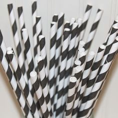 Black and White Striped Straws! I need these for the wedding =)