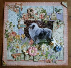 """Layout """"Bliss"""" using Secret Garden by Miranda Boels! Beautiful share on our Ning #graphic45 #layouts"""