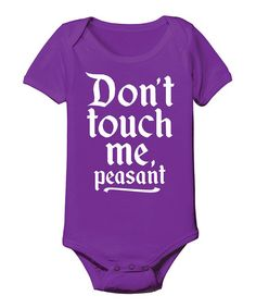 Take a look at this Purple 'Peasant' Bodysuit - Infant on zulily today!