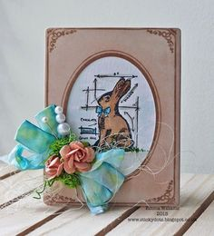 That's Life: Easter Bunny Hop.... using Tim Holtz, Ranger, Idea-ology, Sizzix and Stamper's Anonymous products; Apr 2015