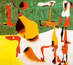 Figuras en frente de una metamorfosis, 1936 - Joan Miró  (April 20, 1893 – December 25, 1983) was a Spanish painter, sculptor, and ceramicist born in Barcelona.