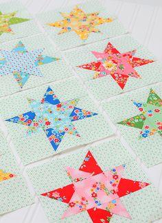 Resplendent Sew A Block Quilt Ideas. Magnificent Sew A Block Quilt Ideas. Hand Quilting Patterns, Easy Quilt Patterns, Quilting Tutorials, Pattern Blocks, Star Quilts, Scrappy Quilts, Quilt Blocks Easy, Block Quilt, Modern Quilting Designs