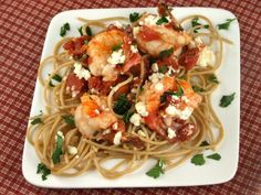 Shrimp Scampi Pasta With Tomatoes