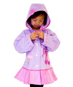 Look what I found on #zulily! Orchid & Pink Ballerina Raincoat - Infant, Toddler & Girls #zulilyfinds