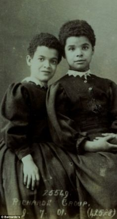 Sisters Sarah and Maud Richards (right),from Liverpool became orphaned when Maud was just six years old. They continued to living with their stepmother for three years, but were admitted into the care of Barnado's 1901. The two sisters spent several years at the Girl's Village in Barkingside, London