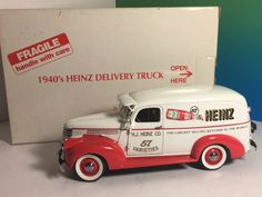 VINTAGE DANBURY MINT DIECAST MODEL CAR BOX 1940 HEINZ KETCHUP DELIVERY TRUCK 57
