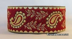 ~10m AWESOME BURGUNDY/GOLD  BRAID¨¨PAISLEY¨35mm¨¨¨