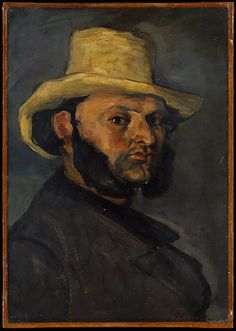 Paul Cézanne (French, 1839–1906). Gustave Boyer (b. 1840) in a Straw Hat, 1870-1871. The Metropolitan Museum of Art, New York. H. O. Havemeyer Collection, Bequest of Mrs. H. O. Havemeyer, 1929 (29.100.65) #mustache #movember