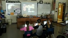 Kenston Middle School teacher, @josh_timmons3, has a Hangout with Pres. Obama while kids use @Exit Ticket