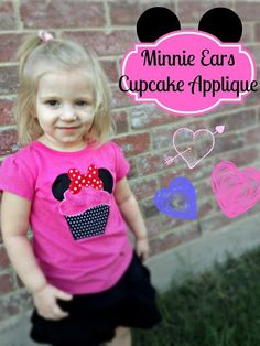 Minnie Mouse Cupcake Applique | The TipToe Fairy #appliques #sewingforkids #sewingtutorial