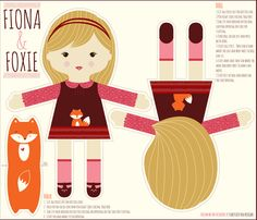 I created Fiona in the Kona cotton.  I love the way the color prints and fabric weight is perfect for dolls.
