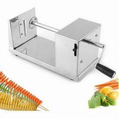 Utensilios de Cozinha nicer dicer cortador de batata francês Fry batata cortador Manual de aço inoxidável trançado ralador patata espiral