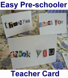 Easy Peasy Teacher Thank You/Appreciation Card and Gift End of Year/Term from Ma Vie Bella: