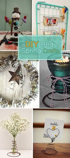 110 Best Bed Springs Ideas Images Bed Spring Crafts Diy Christmas