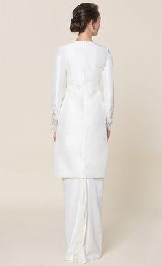 nh by NURITA HARITH étoile - LILY Kurung in White - NH by Nurita Harith | FashionValet