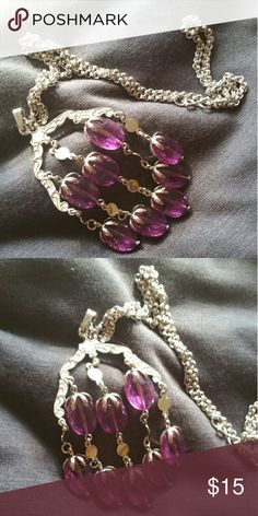Vintage Sarah Coventry boho purple drop necklace Excellent used condition. Very pretty purple  Signed Sarah Coventry sarah Coventry Jewelry Necklaces