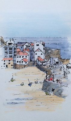 St Ives ~ sketch ~ John Edwards
