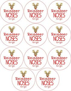 Free Reindeer Noses To Go Labels                                                                                                                                                                                 More