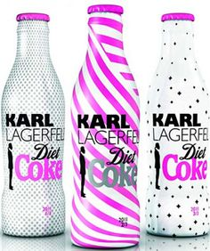 karl lagerfeld's diet coke bottles. i mean i dont LOVE it, but hey, its Karl