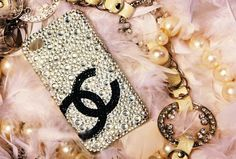 Customize Handmade Bling Crystals Chanel iPhone cases iphone 4/4s case. $24.99, via Etsy.