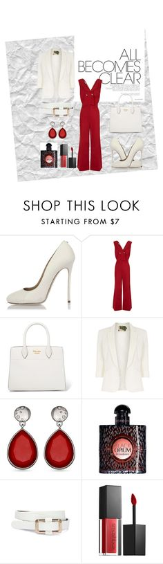 """Dress to Impress"" by crazysoul33 ❤ liked on Polyvore featuring Dsquared2, VIVETTA, Prada, Jolie Moi, Yves Saint Laurent and Smashbox"