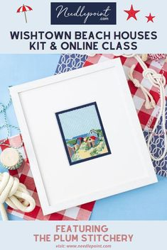 Looking for a quick weekend project to stitch? This delightful canvas from Plum Stitchery is just what you need! This lovely canvas will never go out of style and will make you dream of warm summer days at the beach. 🏖  •  •  #beachneedlepoint #needlepointkit #needlepointclass #onlineneedlepointclass #newneedlepoint #NeedlepointDotCom #2020needlepoint #finishedneedlepoint #framedneedlepoint