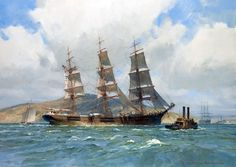 Christopher Blossom (1946) Down Easter Henry B Hyde preparing to anchor San Francisco Bay