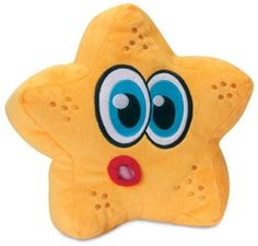 "Hear Doggy Large Plush Starfish! A POPULAR and FUN Starfish is now available from the Hear Doggy™ plush toys! The Hear Doggy!™ line of plush toys is just that, Silent! The patented squeaker is tuned to an ultrasonic frequency that only they can hear, making playtime enjoyable for both your dog AND YOU! The plush is made from new, extra durable materials.    Approximate measurements: 10""L x 8""W x 7""T FREE SHIPPING! $11.99 #dogtoys #dogs #durable #nosqueak"