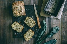 Kale and Fetta Bread (Souvlaki For The Soul) I want to try with Almond flour Kale Recipes, Bread Recipes, Cooking Recipes, Vegetarian Recipes, Healthy Recipes, Cooking Ideas, Brunch Recipes, Healthy Foods, Spelt Bread