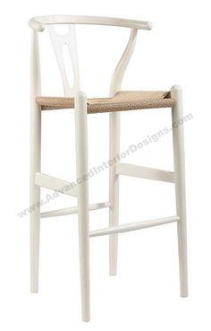 Wishbone Bar Stool - White