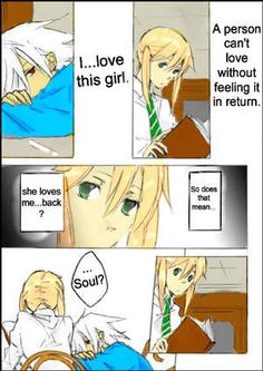 Aww! :3  Soul and Maka Doujinshi by ScreamxStrawberries on DeviantART!!!