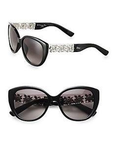 Óculos Christian Dior Mystere/S Sunglasses Shiny Black / Mauve Gradient #Óculos #Christian Dior