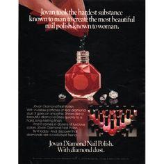 "1980 Jovan Diamond Nail Polish Ad ""diamond dust"""
