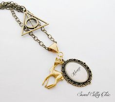 Harry Potter Inspired Always Necklace, Deathly Hallows Doe Patronus Always Pendant Long Necklace,Harry Potter Jewelry, Harry Potter Gift