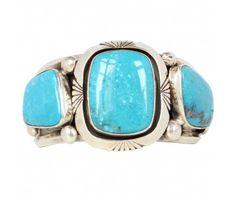 Manchette argent et turquoise Harpo | bracelet unique argent