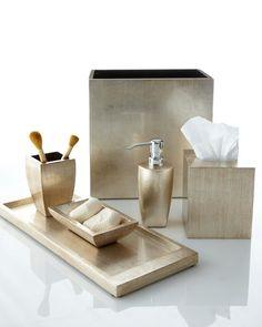 """-2XDM Gail Deloach  """"Antique Silver"""" Pump Dispenser """"Antique Silver"""" Tissue Box Cover """"Antique Silver"""" Soap Dish"""