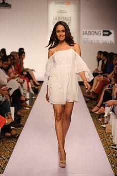 Lakme Fashion Week Summer/Resort 2015-Day 2- Show 8- Miss Bennett London #jabong #lakmefashionweek #missbennettlondon #indianfashionshow #summerresort #day2 #show8 #white #beachwear #shortdress #summeroutfit