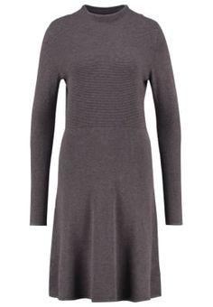Strickkleid - grey/black melange