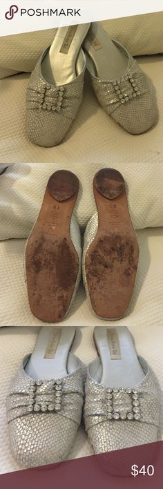 Olivia Rose Tal Slippers Beautiful slippers, only worn a few times. In great condition. Runs small. Olivia rose tal Shoes Slippers