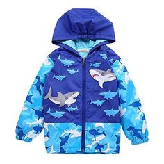 Autumn Kids Little Boys Pocket Sharks Will Kill You Comfortable Baseball Jacket Hoodie