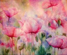 Monet's Poppies Vintage Warmth Canvas Print / Canvas Art by Georgiana Romanovna Watercolor Journal, Watercolor And Ink, Watercolor Flowers, Watercolor Paintings, Watercolors, Canvas Art, Canvas Prints, Framed Prints, Art Courses