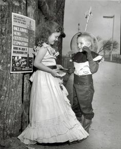 Little Oklahoma Spaceman gets himself a date, 1957.