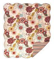 Retro Floral Reversible Quilt