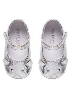 Cute mouse baby mary jane with adjustable strap. Synthetic upper and lining with rubber outsole | www.seedheritage.com