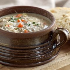 This Crockpot Chicken Wild Rice Soup is so darn simple to make and goes perfectly with a piece of crusty bread on a cold winter night. #chicken #wildrice #soup #slowcooker #easy #recipe | pinchofyum.com Cheeseburger Chowder, Appetizer Recipes, Starter Recipes, Relish Recipes