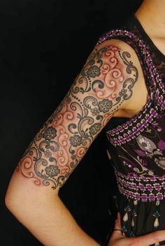 Best Tattoos: Lace Tattoo.