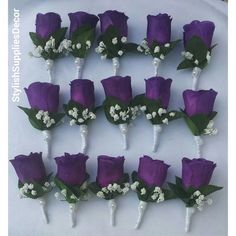 Customize Your Package Purple Calla Lily Bouquet Purple Purple Wedding Centerpieces, Purple Wedding Bouquets, Purple Wedding Cakes, Wedding Ideas Purple, Tall Centerpiece, Bridesmaid Bouquets, Plum Wedding Colors, Bridal Bouquets, White Bouquets