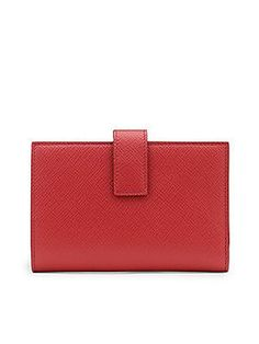 Smythson Panama Continental Calfskin Leather Purse
