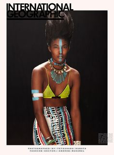 """Black Supermodels Chronicles: Sessilee Lopez - """" International Geographic """""""